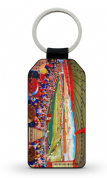 new douglas park  PU Leather Keyring Printed Both Sides